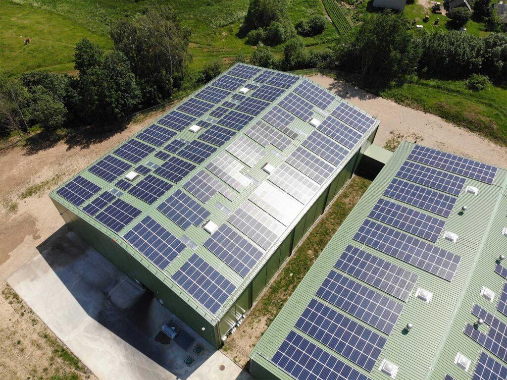 UAB Hoda saulės elektrinių projektas su Bisol saulės moduliais