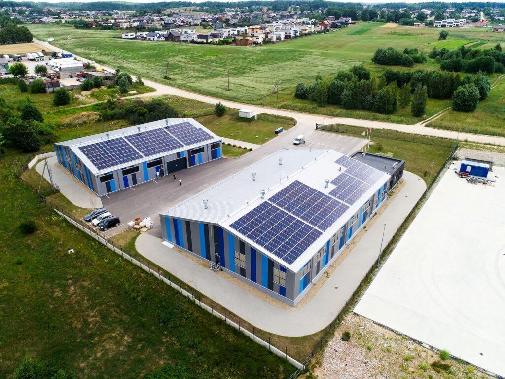 UAB Ignetas saulės elektrinės ant stogo 120kW