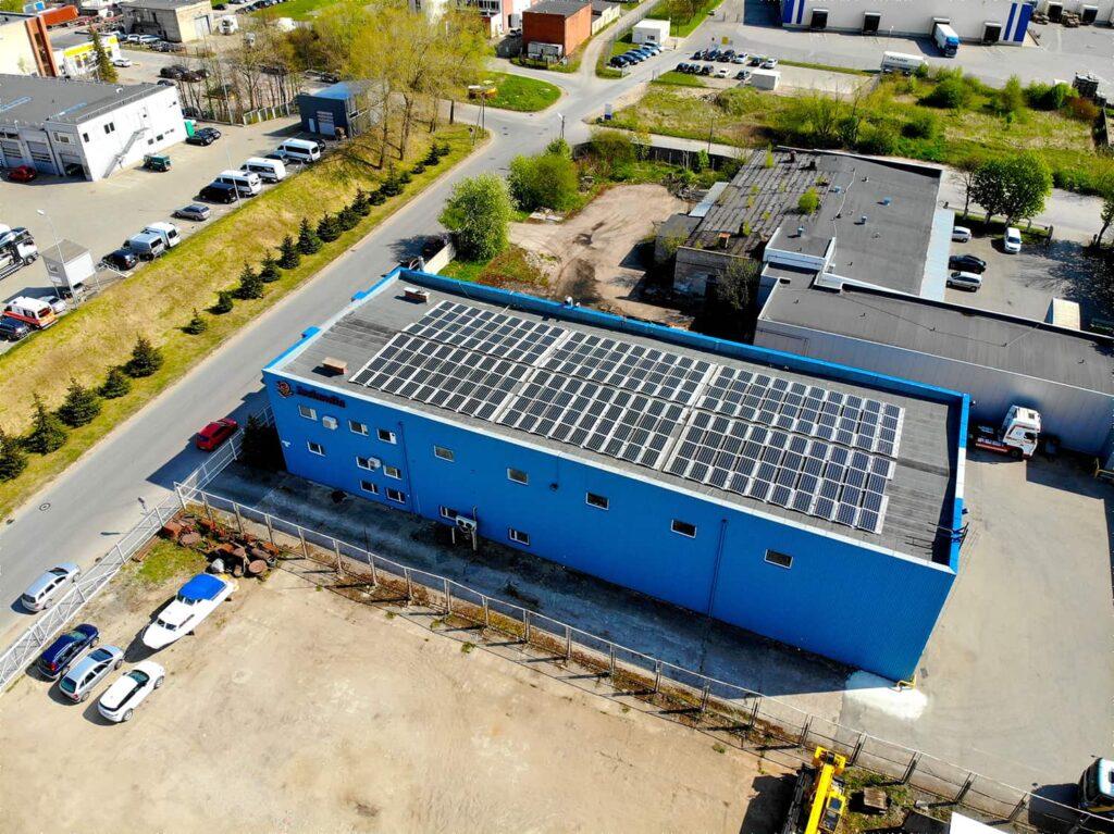 70kW saulės elektrinių projektas