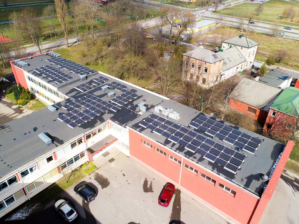 Bisol modulių saulės elektrinės Klaipėdos pradinės mokyklos