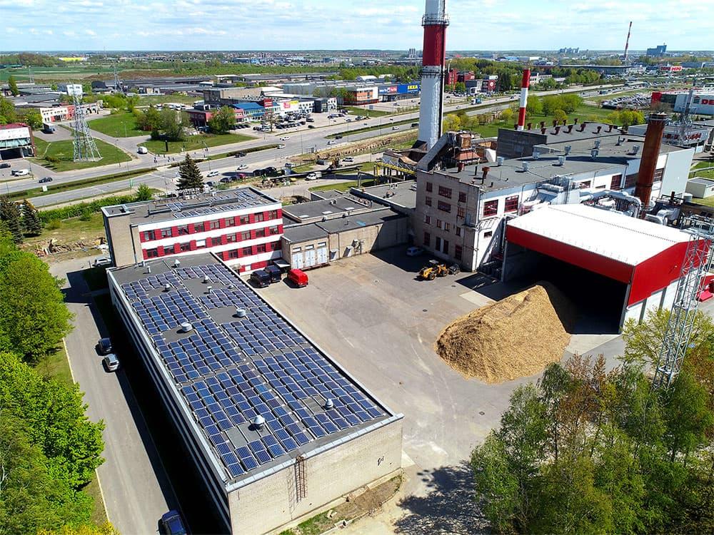 AB Klaipėdos energija saulės elektrinės