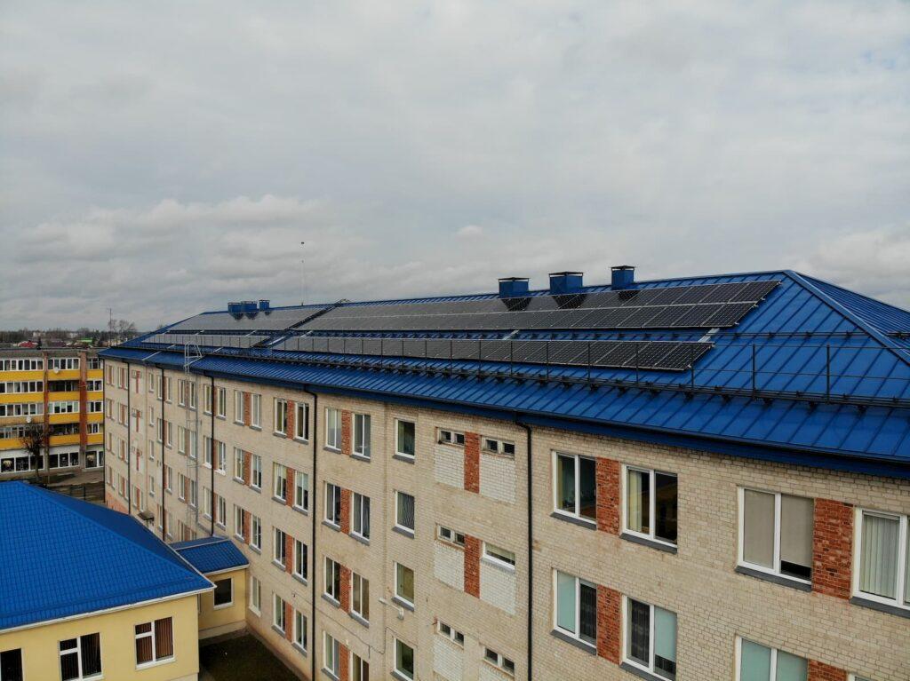 50kW saulės elektrinės ant Pasvalio