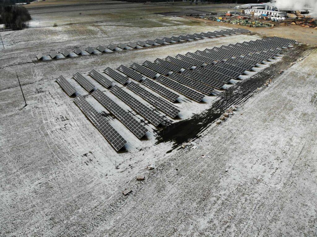Žiemos metu UAB šilalės medienos moduliai
