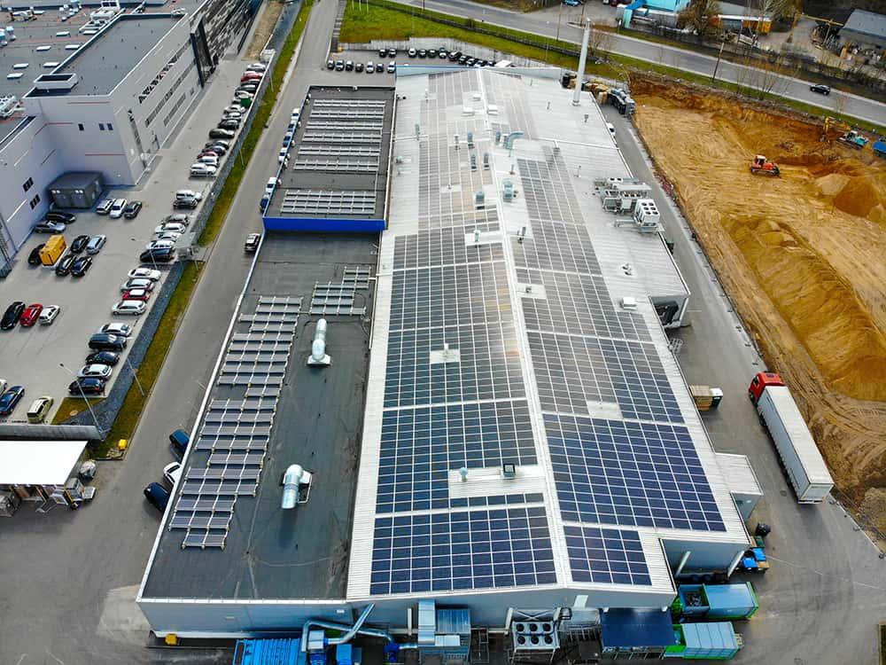 Aerocompact montavimo sistemų saulės elektrinės